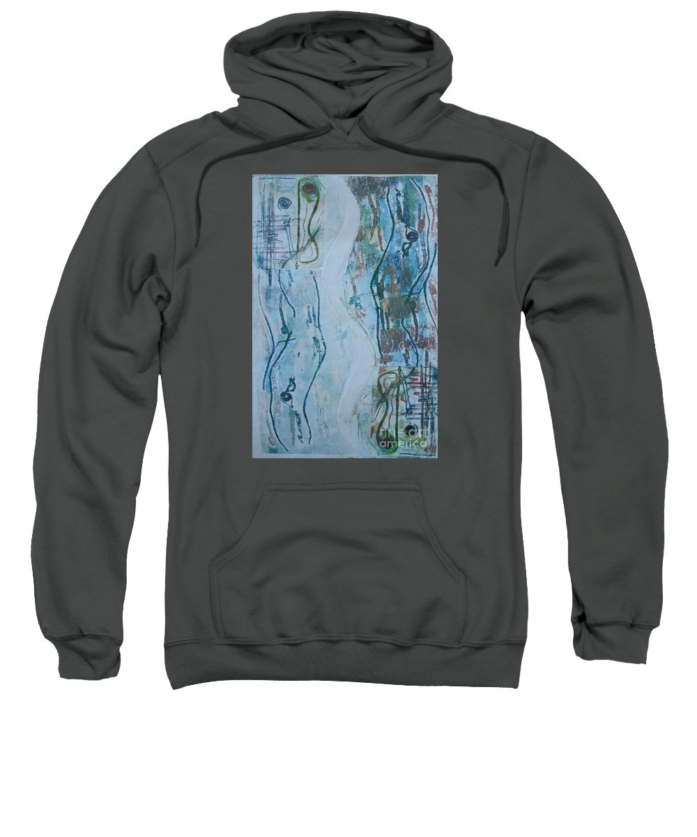 Wildlife Sweatshirt featuring the relief A Lakeside Walk At Sunset by Jennifer Daly