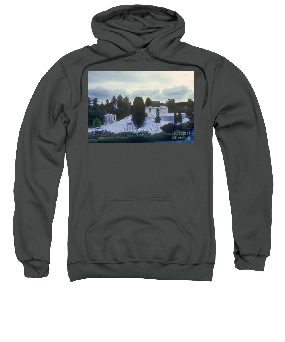 Legoland Billund Denmark Lego Legos Tree Trees Replica Replicas Artwork Odds And Ends Sweatshirt featuring the photograph A Little Bit Of Athens by Bob Phillips
