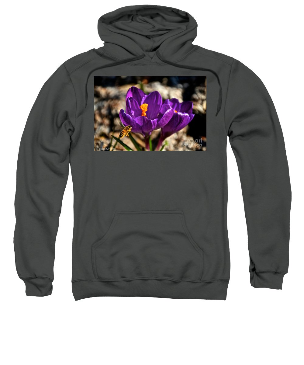 Flower Sweatshirt featuring the photograph A Look From The Left by Susan Herber