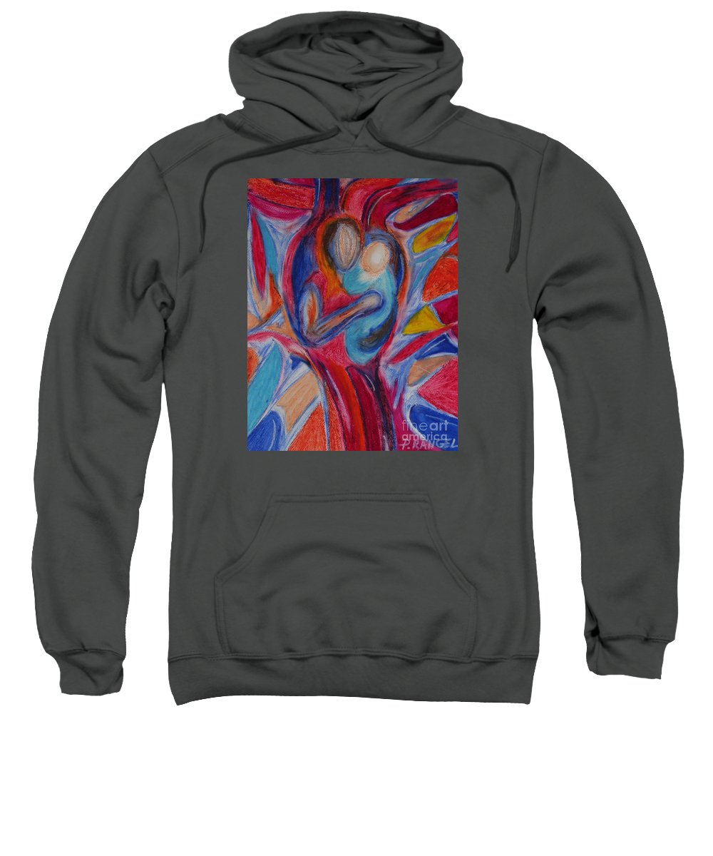 Mothers Day Sweatshirt featuring the pastel A Mothers Love by Phillip Rangel