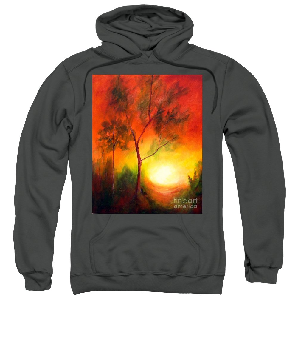 Landscape Sweatshirt featuring the painting A New Day by Alison Caltrider