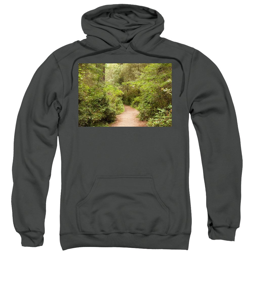 Landscape Sweatshirt featuring the photograph A Path To The Redwoods by John M Bailey