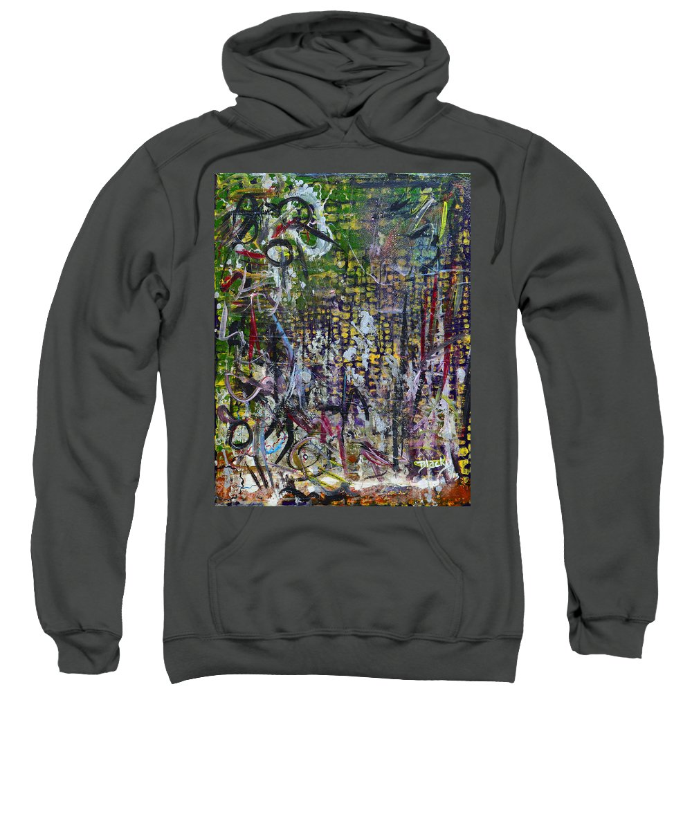 Graffiti Sweatshirt featuring the painting A Place To Forget by Donna Blackhall