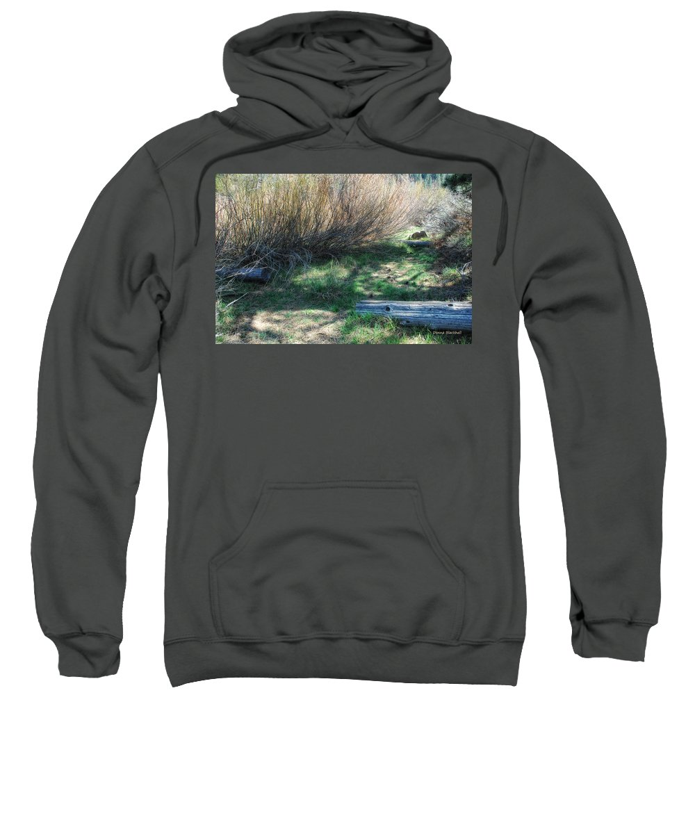 Woods Sweatshirt featuring the photograph A Place To Hide by Donna Blackhall
