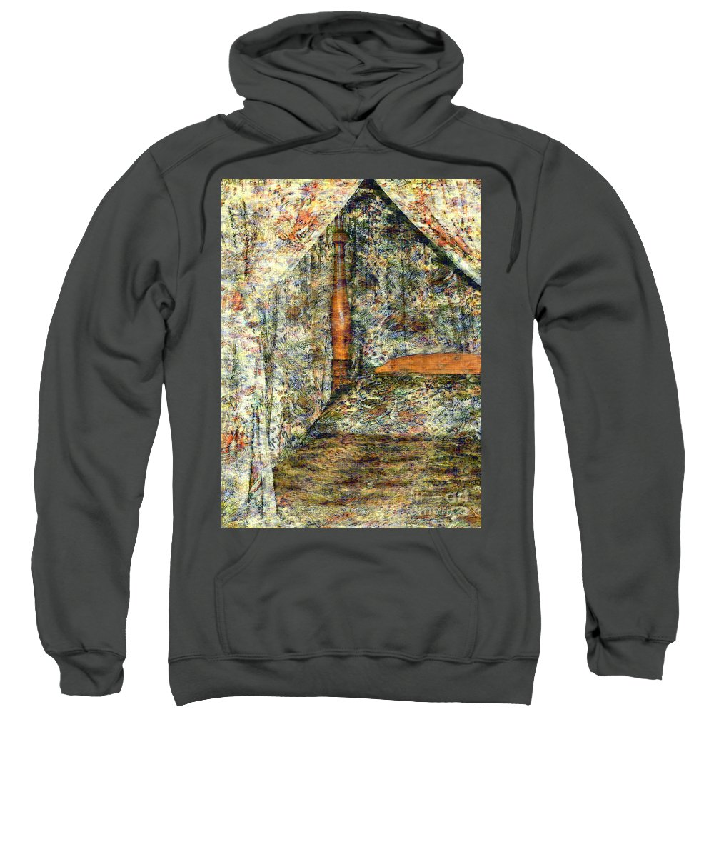 Antiques Sweatshirt featuring the painting A Profusion Of Chintz by RC DeWinter