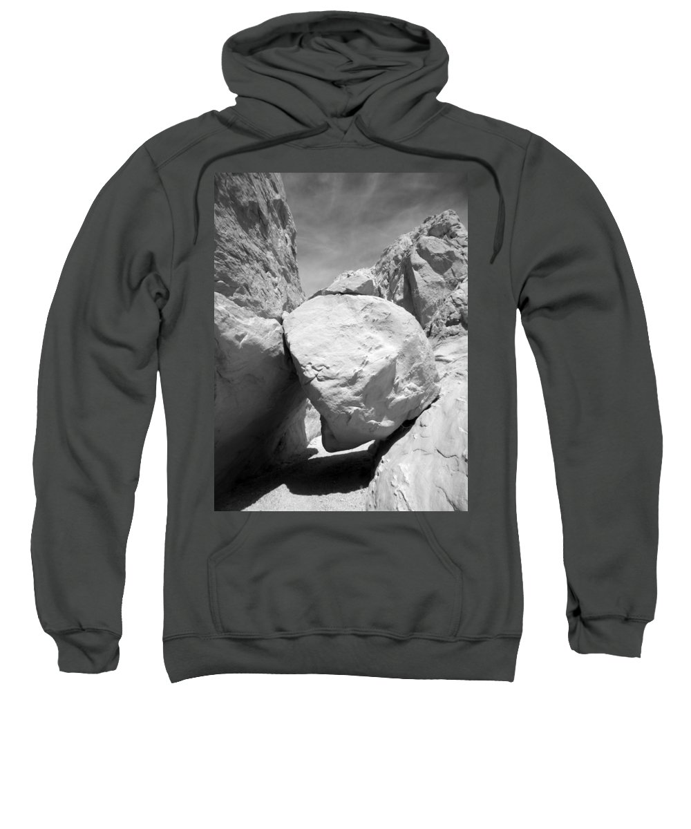 Rocks Sweatshirt featuring the photograph A Rock In A Hard Place. by Jennifer Ann Henry
