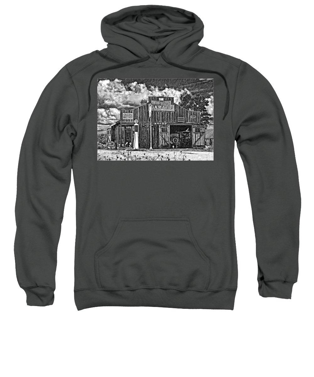 Landscape Sweatshirt featuring the photograph A Simpler Time Pencil Sketch Version by Steve Harrington