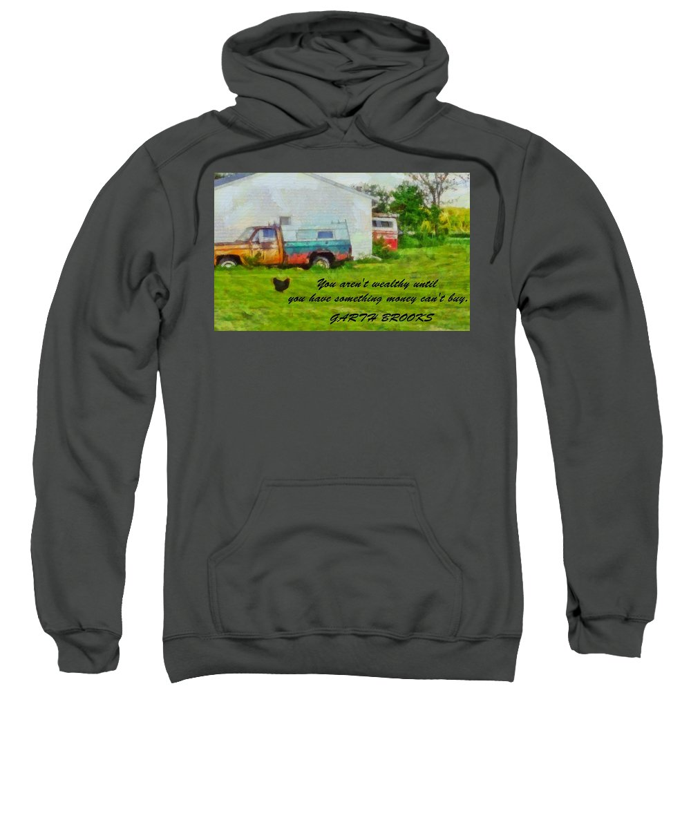 A Touch Of Country Sweatshirt featuring the painting A Touch Of Country by Dan Sproul