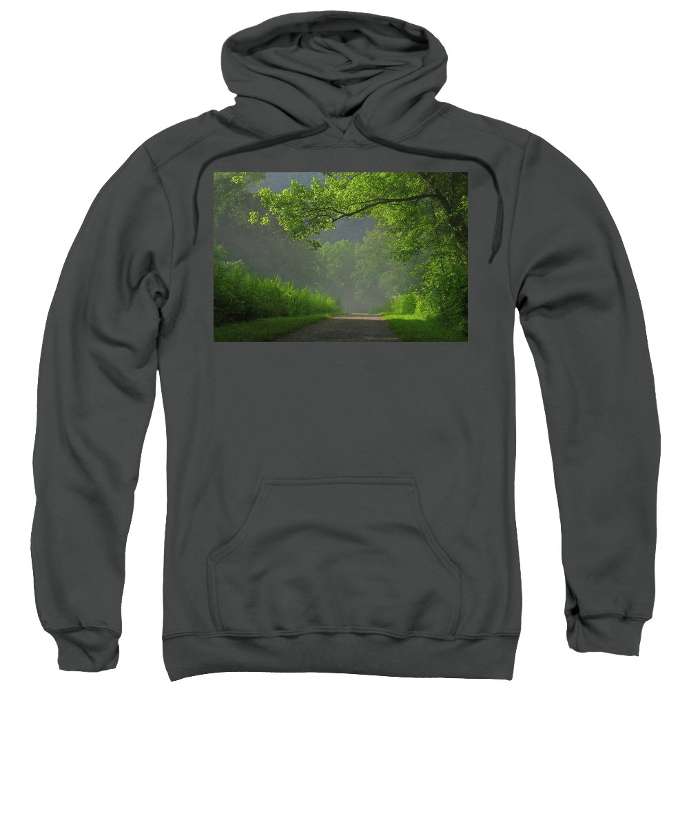 Green Sweatshirt featuring the photograph A Touch Of Green by Douglas Stucky