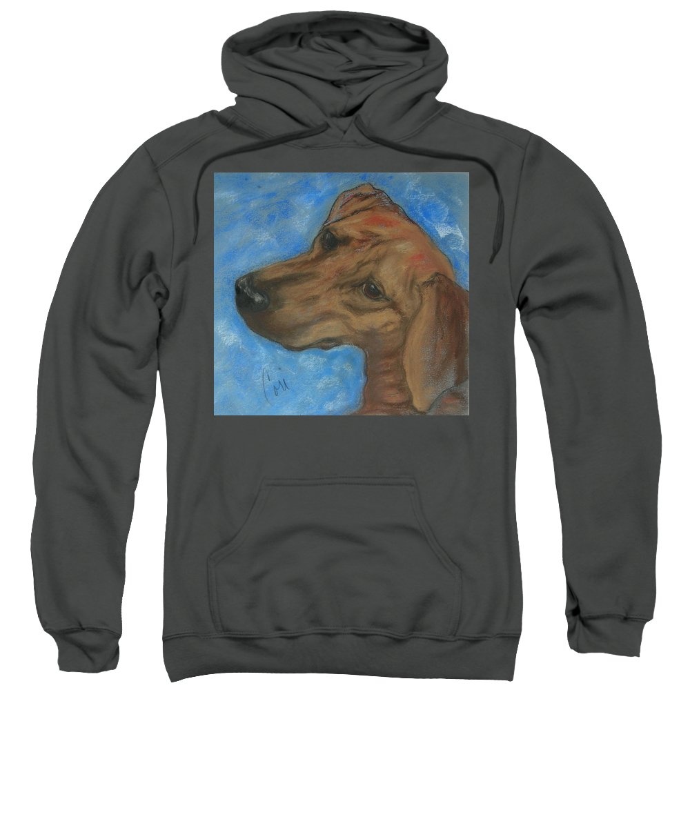 Pastel Sweatshirt featuring the drawing A Twist Of Might by Cori Solomon