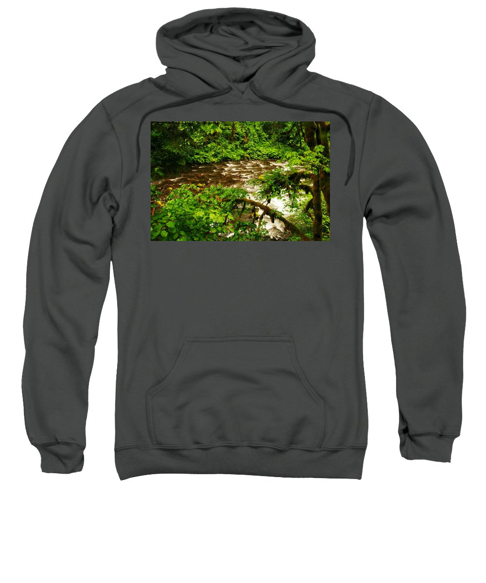 Rivers Sweatshirt featuring the photograph A View Of Eagle Creek by Jeff Swan