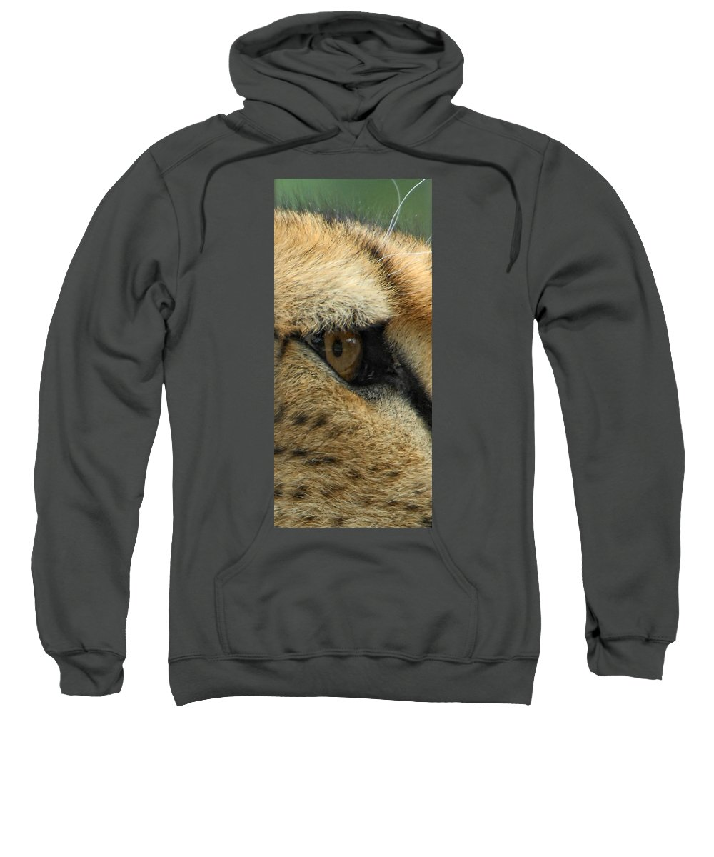 Cheetah Sweatshirt featuring the photograph A View To A Kill by Donna Blackhall