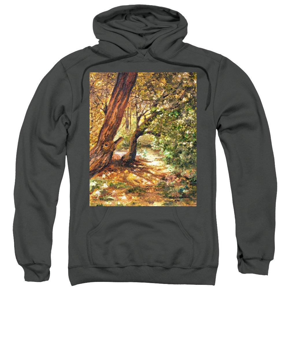 Ablaze Sweatshirt featuring the painting A Walk Through by Melissa Herrin