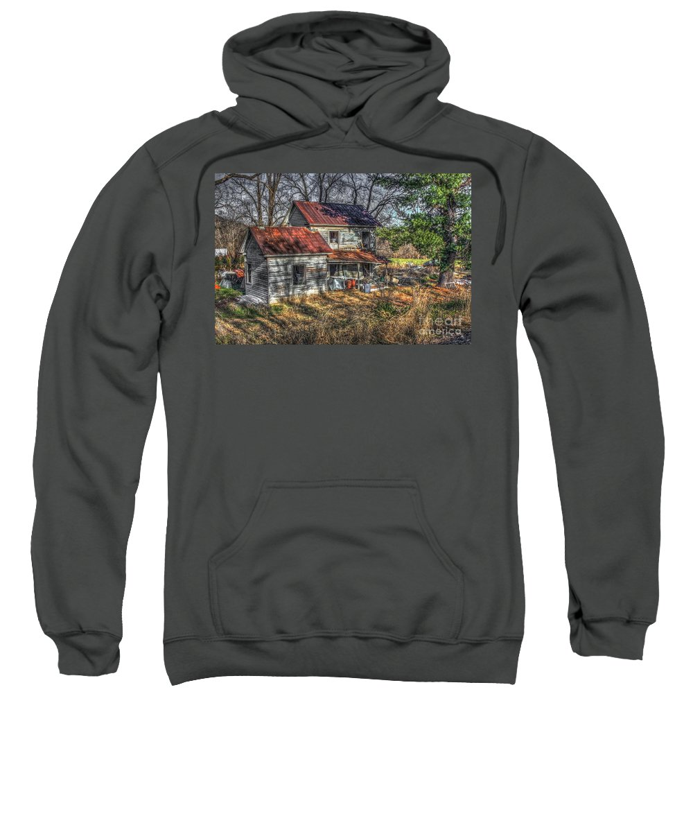 Evidence Sweatshirt featuring the digital art Abandoned Farmhouse by Dan Stone