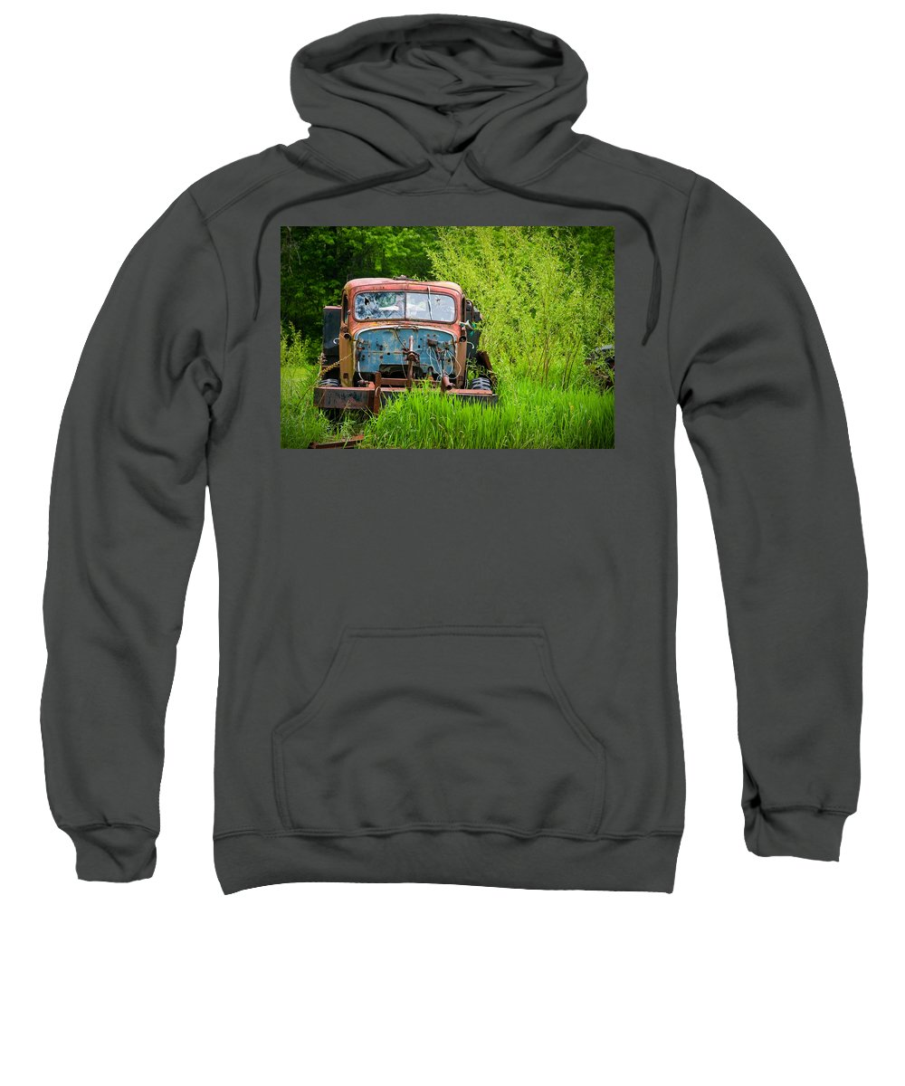 3scape Photos Sweatshirt featuring the photograph Abandoned Truck In Rural Michigan by Adam Romanowicz