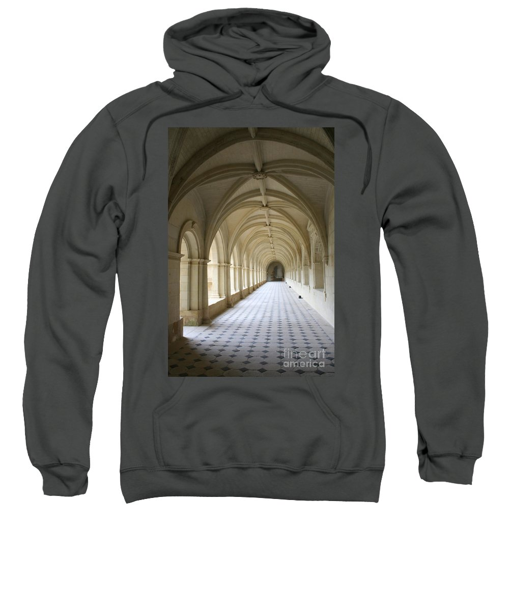 Cloister Sweatshirt featuring the photograph Abbaye De Frontevraud Cross Coat by Christiane Schulze Art And Photography