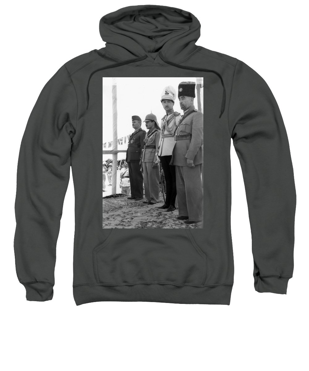1946 Sweatshirt featuring the photograph Abdullah I (1882-1951) by Granger