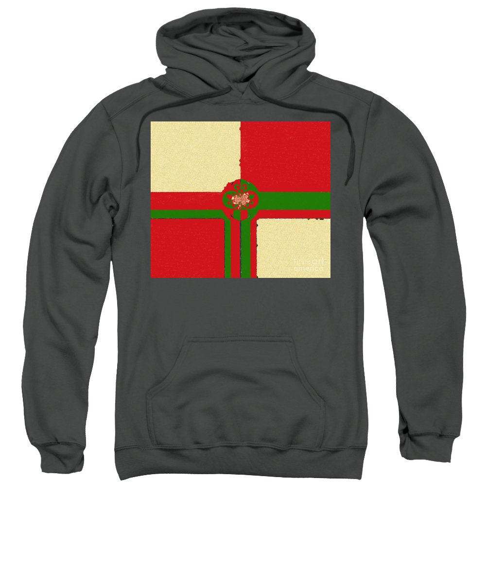 Abstract 113 Sweatshirt featuring the painting Abstract 113 by Barbara Griffin