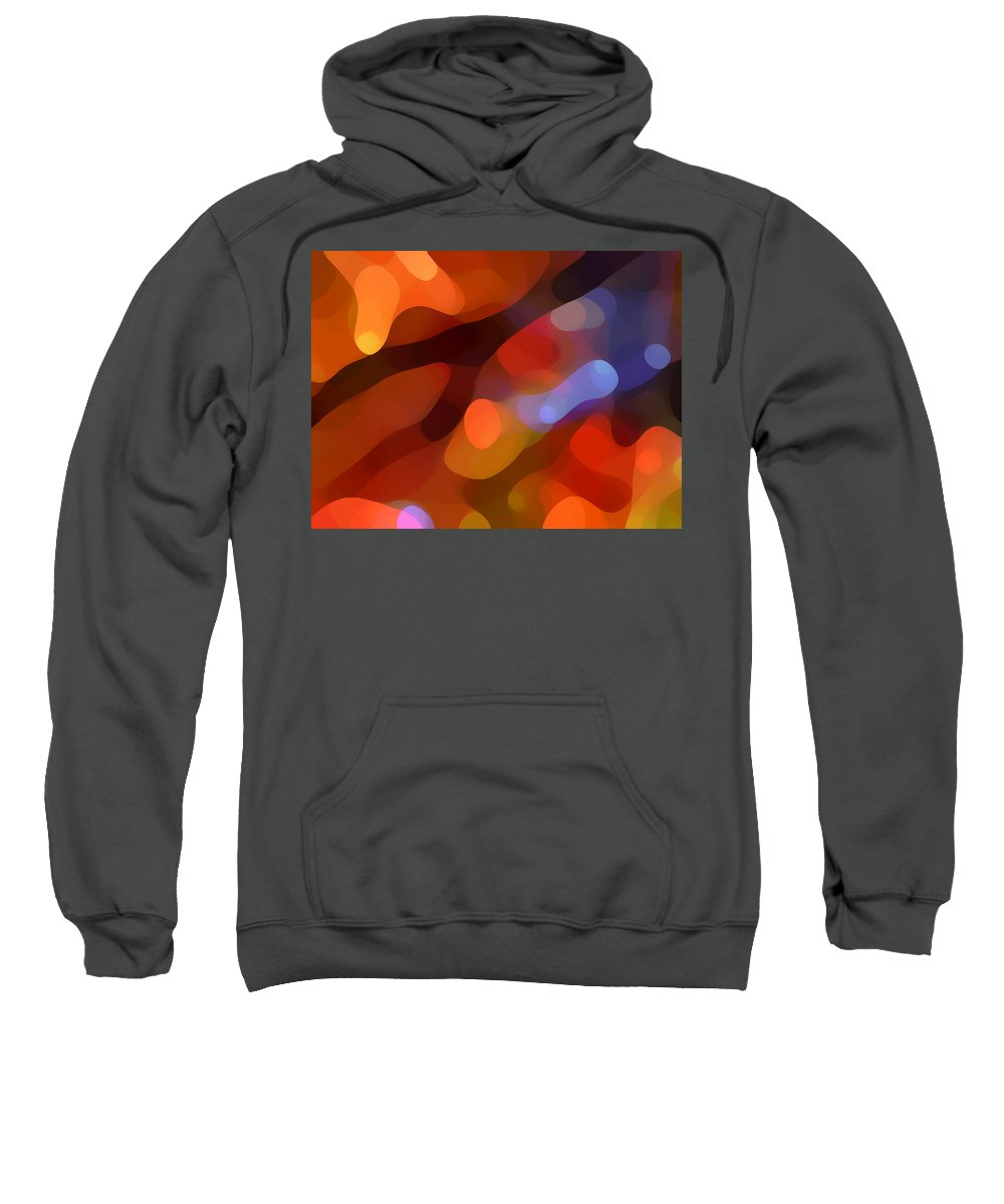 Abstract Art Sweatshirt featuring the painting Abstract Fall Light by Amy Vangsgard