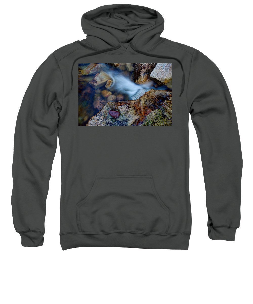 Outdoor Sweatshirt featuring the photograph Abstract Falls by Chad Dutson