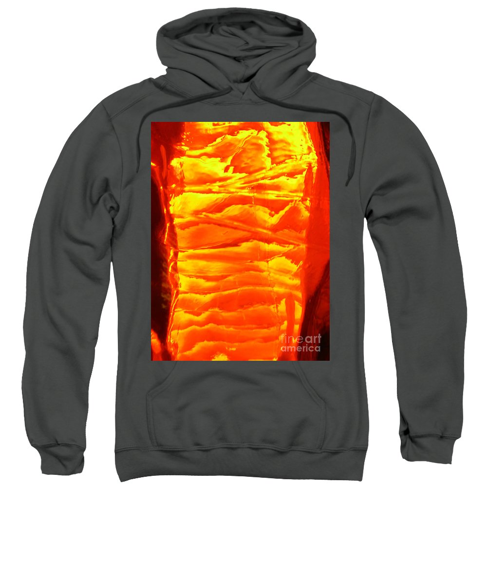 Orange Sweatshirt featuring the photograph Abstract Orange by Amanda Barcon