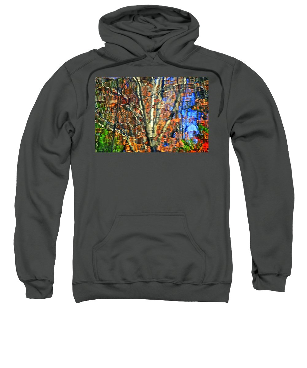 Abstract Sweatshirt featuring the photograph Abstract Reflection Photo by Frozen in Time Fine Art Photography