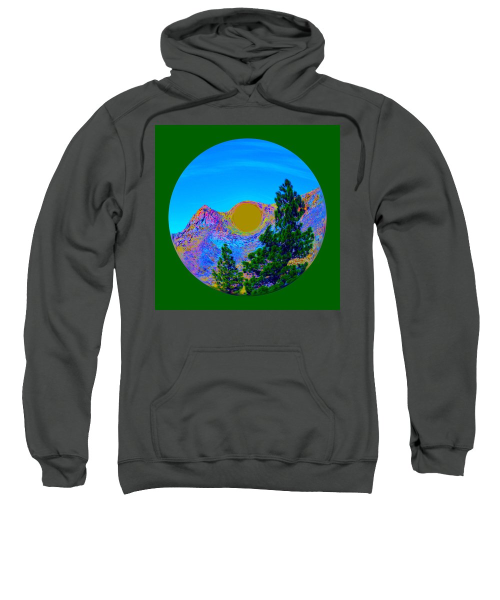 Orb Sweatshirt featuring the photograph Acid Desert Orb 2 by Brent Dolliver