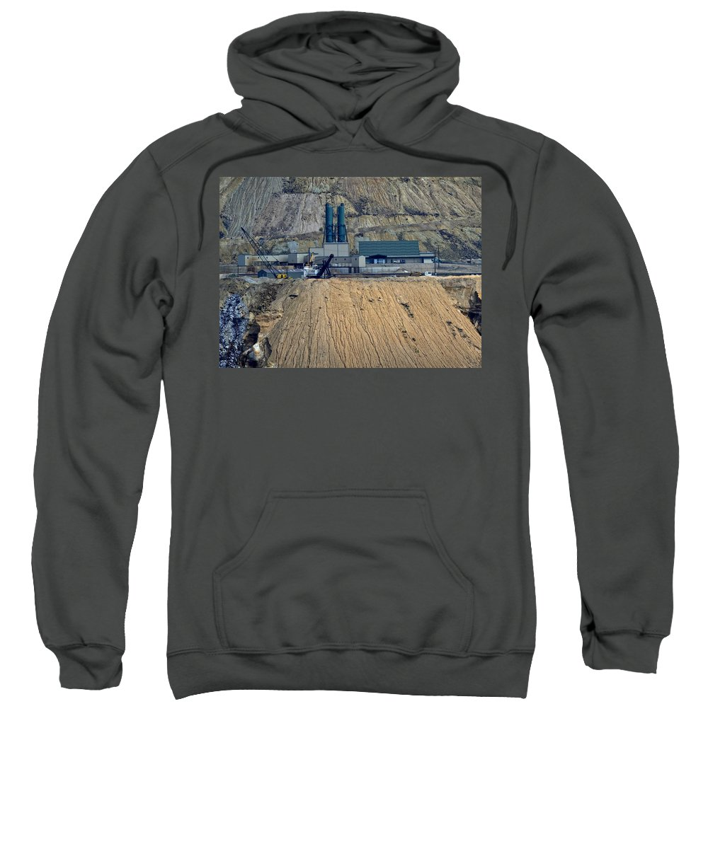 Butte Sweatshirt featuring the photograph Across The Berkeley Pit Viewing by Image Takers Photography LLC - Carol Haddon