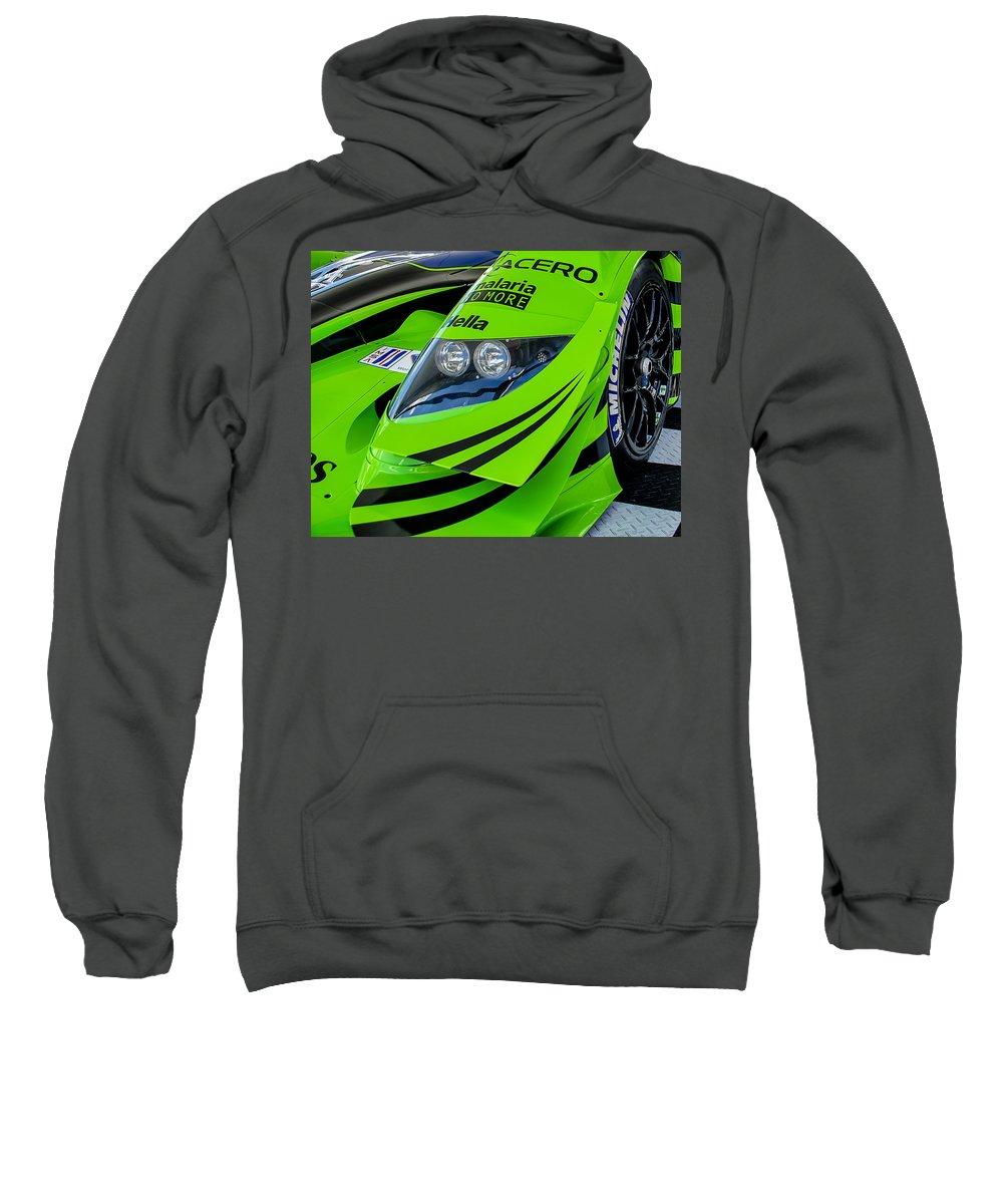 Racing Sweatshirt featuring the photograph Acura Patron Car by Scott Wyatt