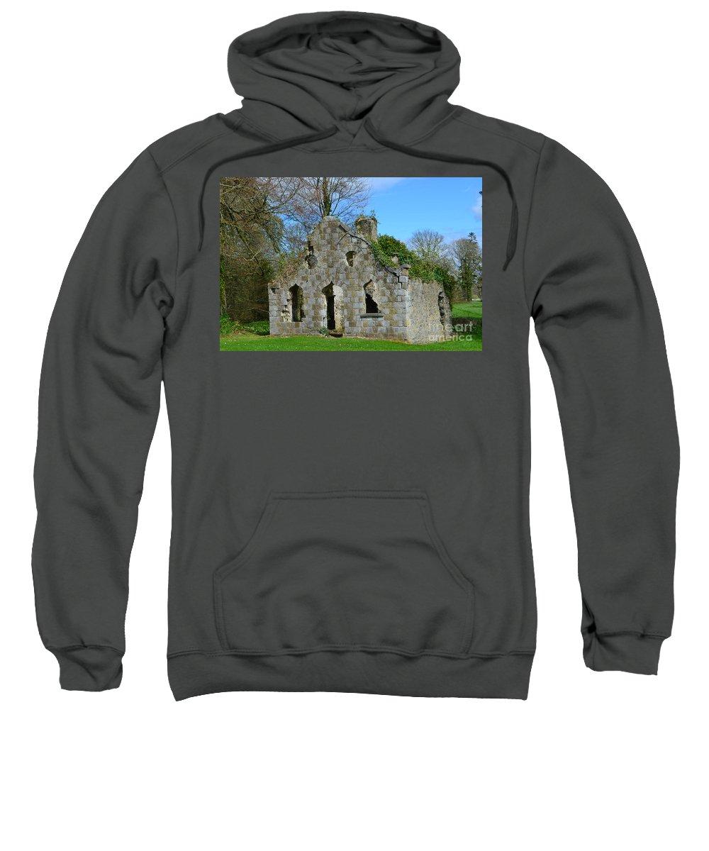 Ruins Sweatshirt featuring the photograph Adare Chapel Ruins by DejaVu Designs