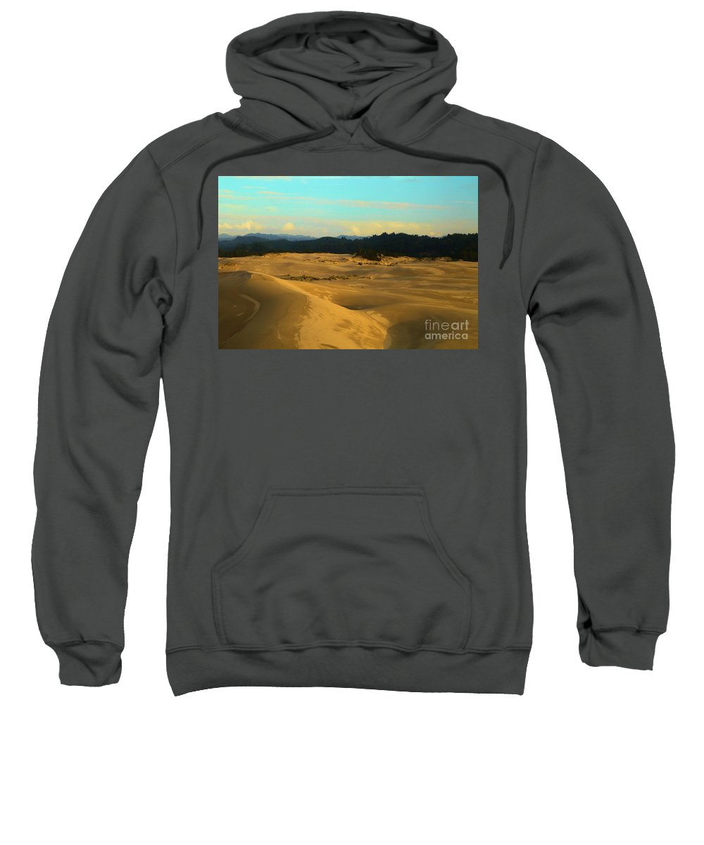 Oregon Dunes Sweatshirt featuring the photograph Afternoon At Oregon Dunes by Adam Jewell