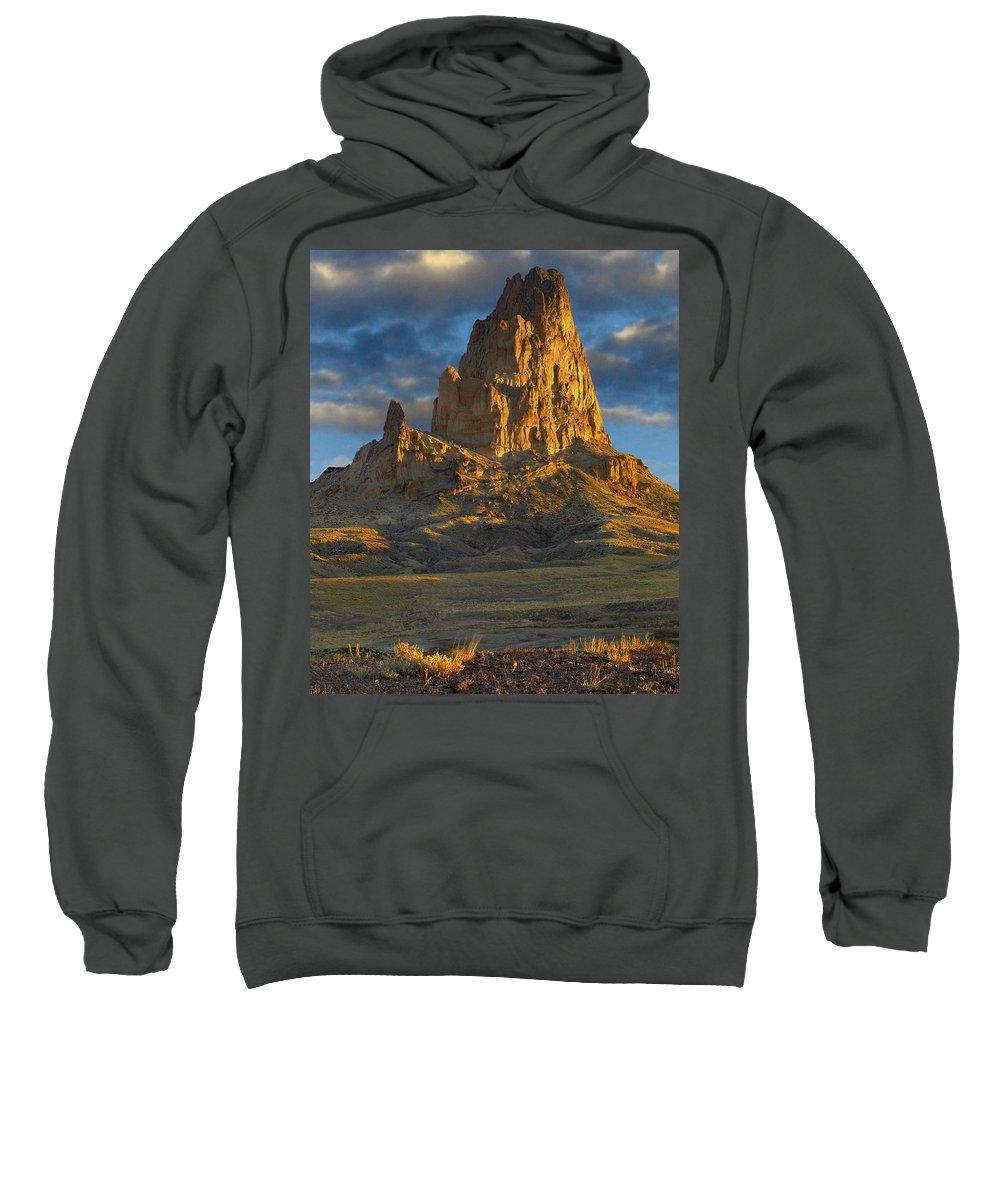 Agathla Peak Sweatshirt featuring the photograph Agathla Peak Monument Valley by Tim Fitzharris