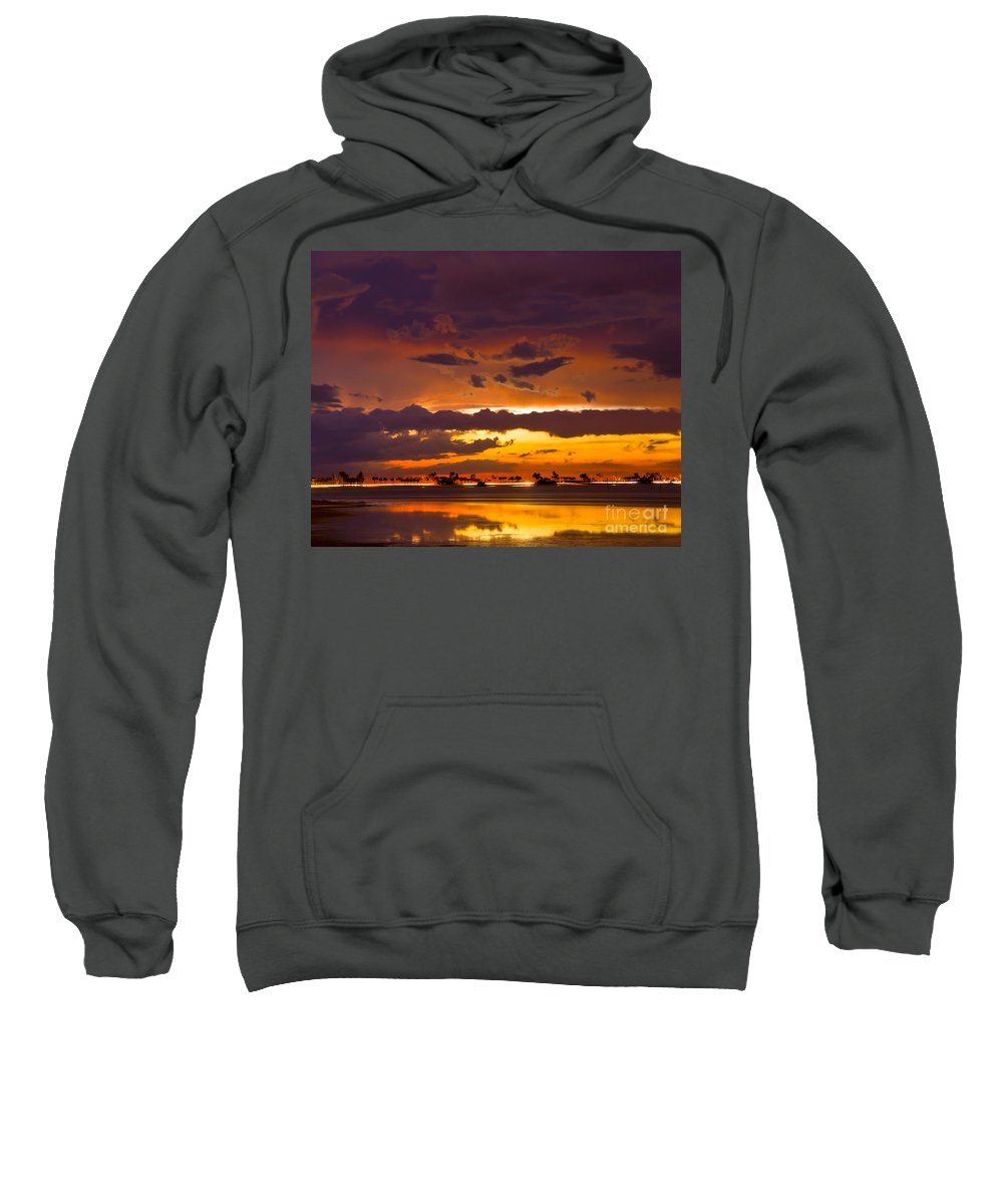 Florida Sweatshirt featuring the photograph Aglow by Stephen Whalen