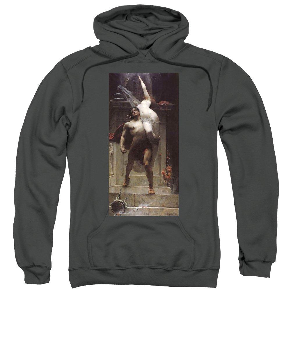 Solomon Joseph Sweatshirt featuring the painting Ajax And Cassandra by Solomon Joseph Solomon