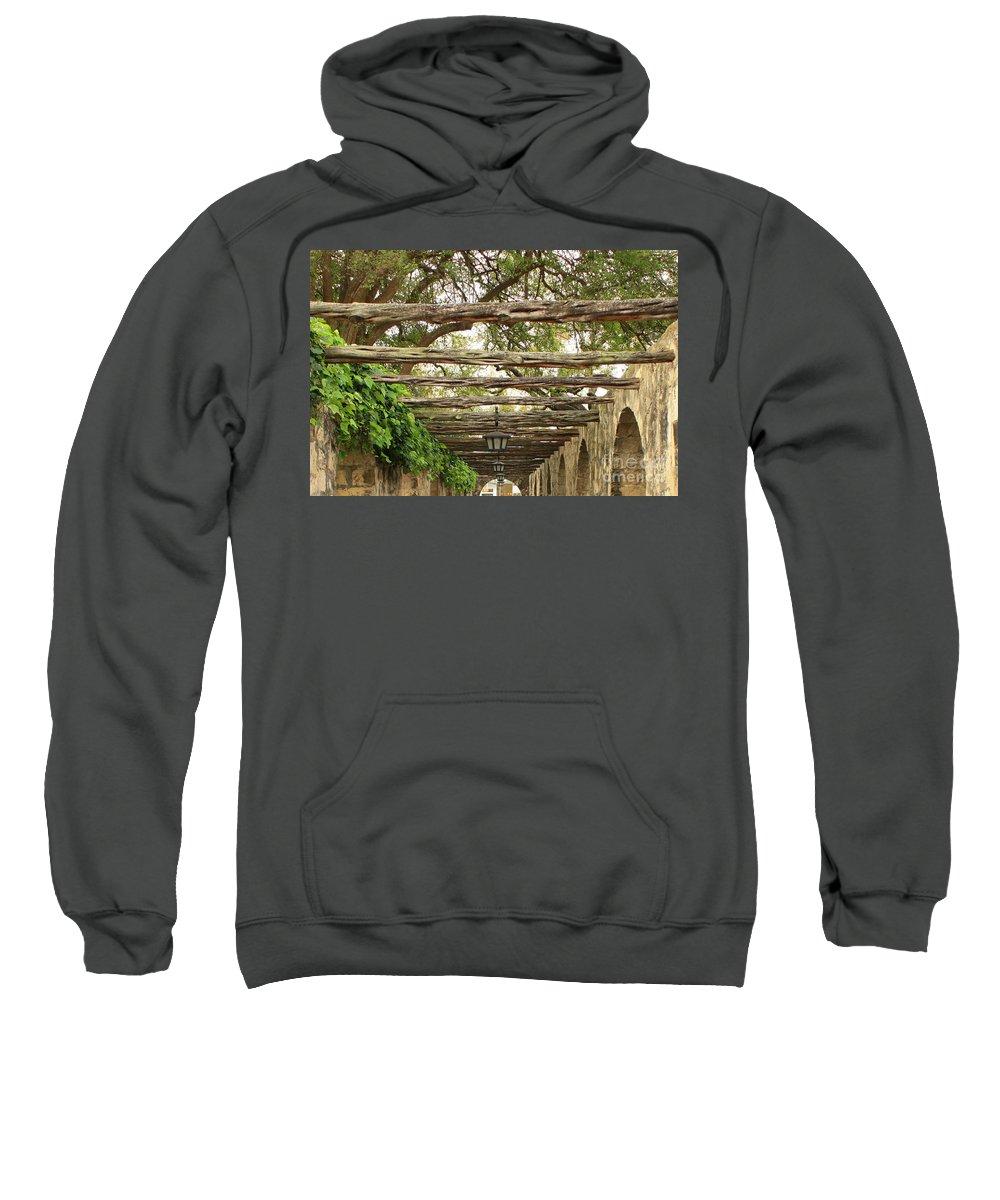 Alamo Walkway Sweatshirt featuring the photograph Alamo Walkway by Carol Groenen