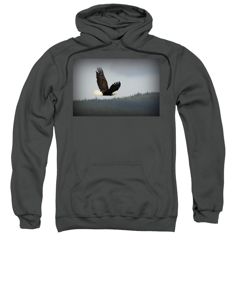 Eagle Sweatshirt featuring the photograph Alaskan Flight by Ryan Smith