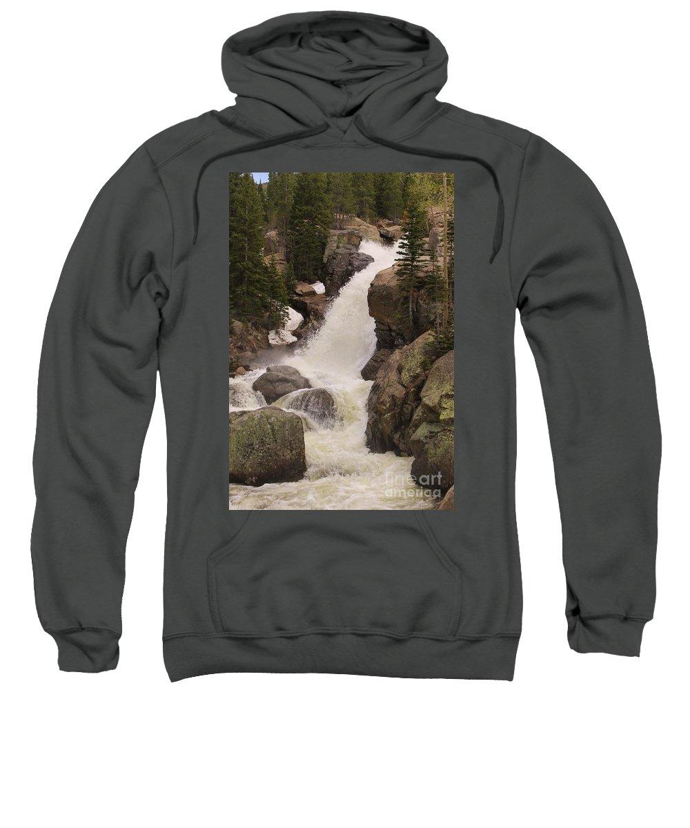 Rocky Mountain National Park Sweatshirt featuring the photograph Alberta Falls by Tonya Hance