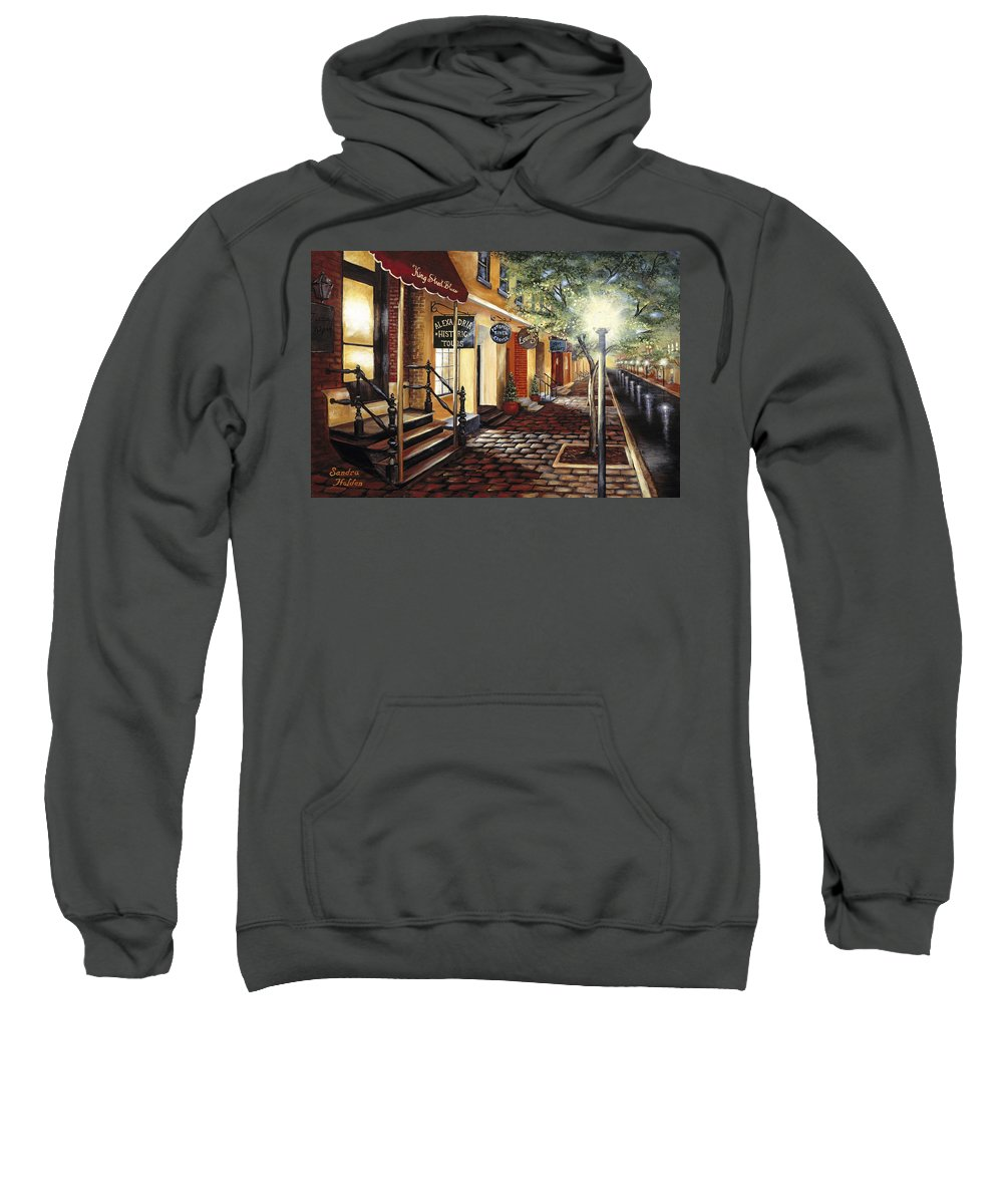 Alexandria Sweatshirt featuring the painting Alexandria At Dawn by Sandra Holden