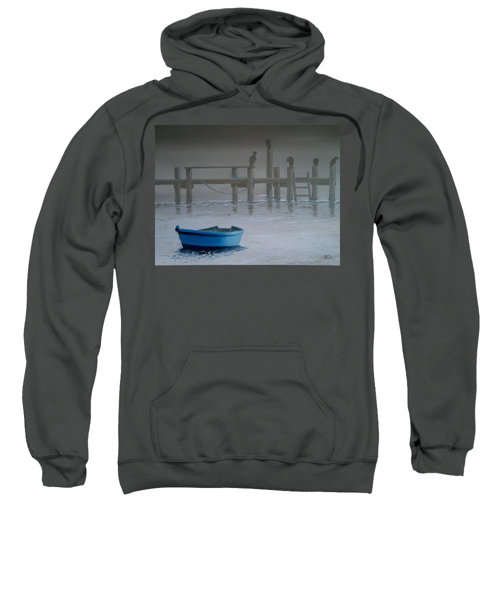 Seascape Sweatshirt featuring the painting All Flights Delayed by Paul Bennett
