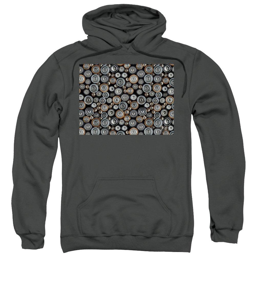 Node Sweatshirt featuring the digital art All Positive by Peter Awax