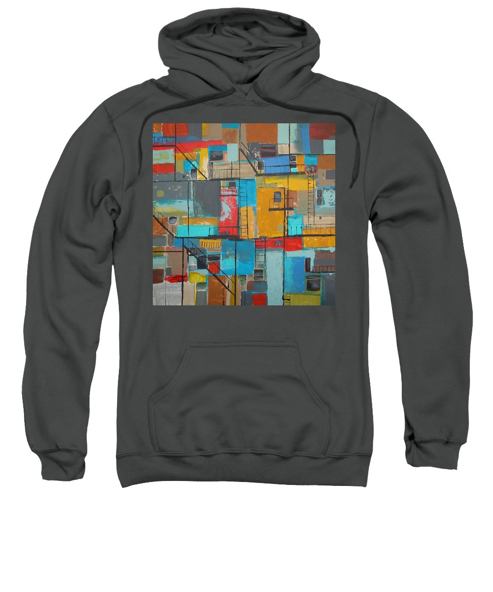 Alley Sweatshirt featuring the painting Alley 1 by Rhodes Rumsey