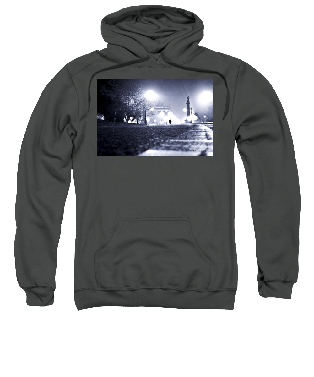 New York City Sweatshirt featuring the photograph Alone Brooklyn Nyc Usa by Sabine Jacobs