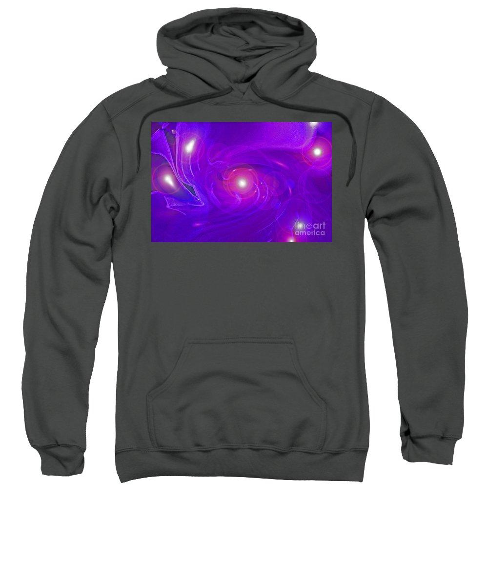 First Star Sweatshirt featuring the digital art Alpha Level 2 by First Star Art