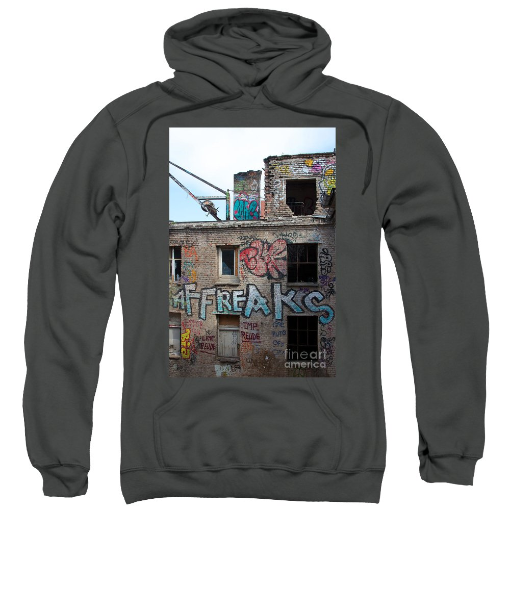 Abandoned Sweatshirt featuring the photograph Alte Eisfabrik Berlin by Jannis Werner