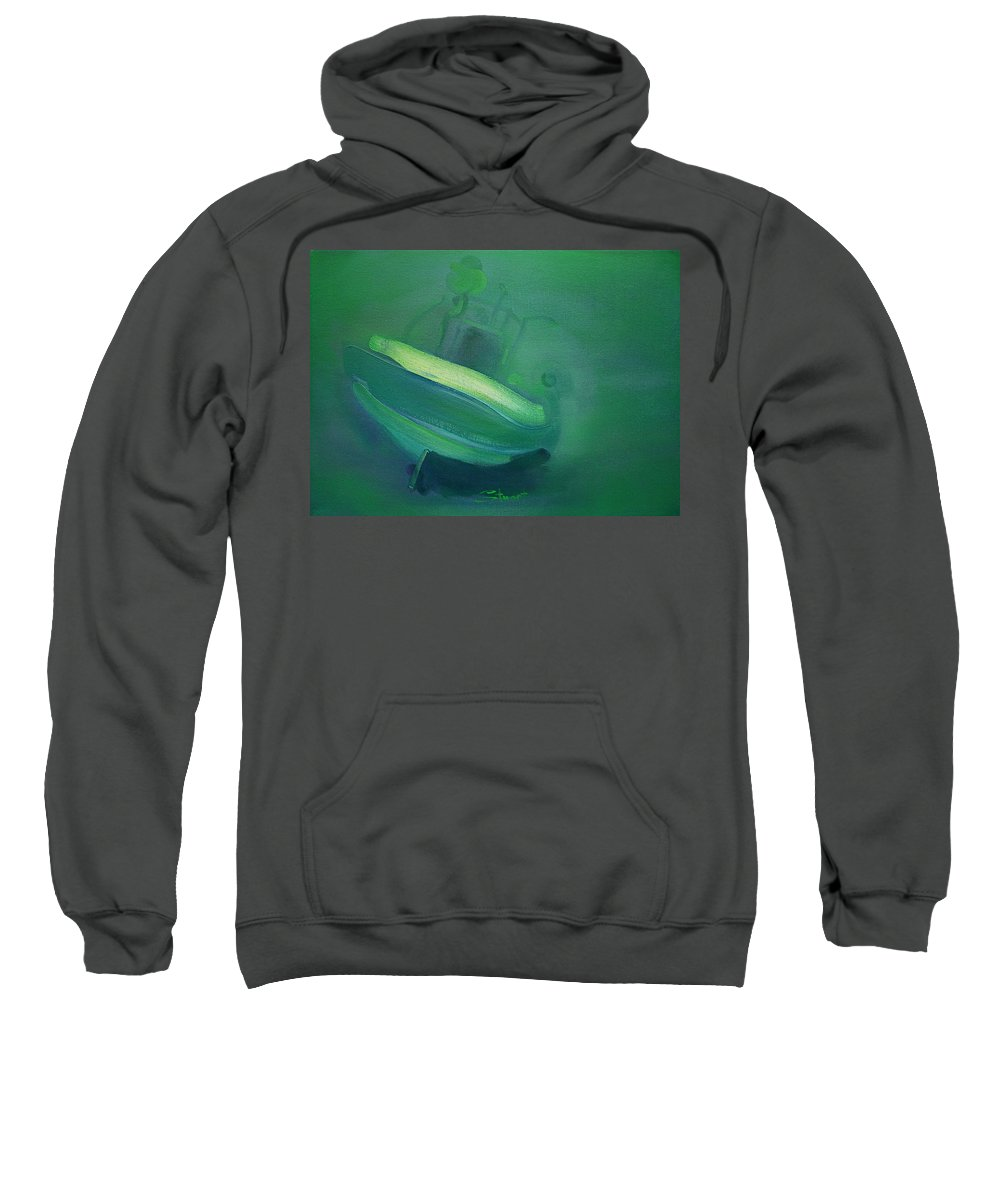 Fishing Boat Sweatshirt featuring the painting Alvor Working Boat by Charles Stuart