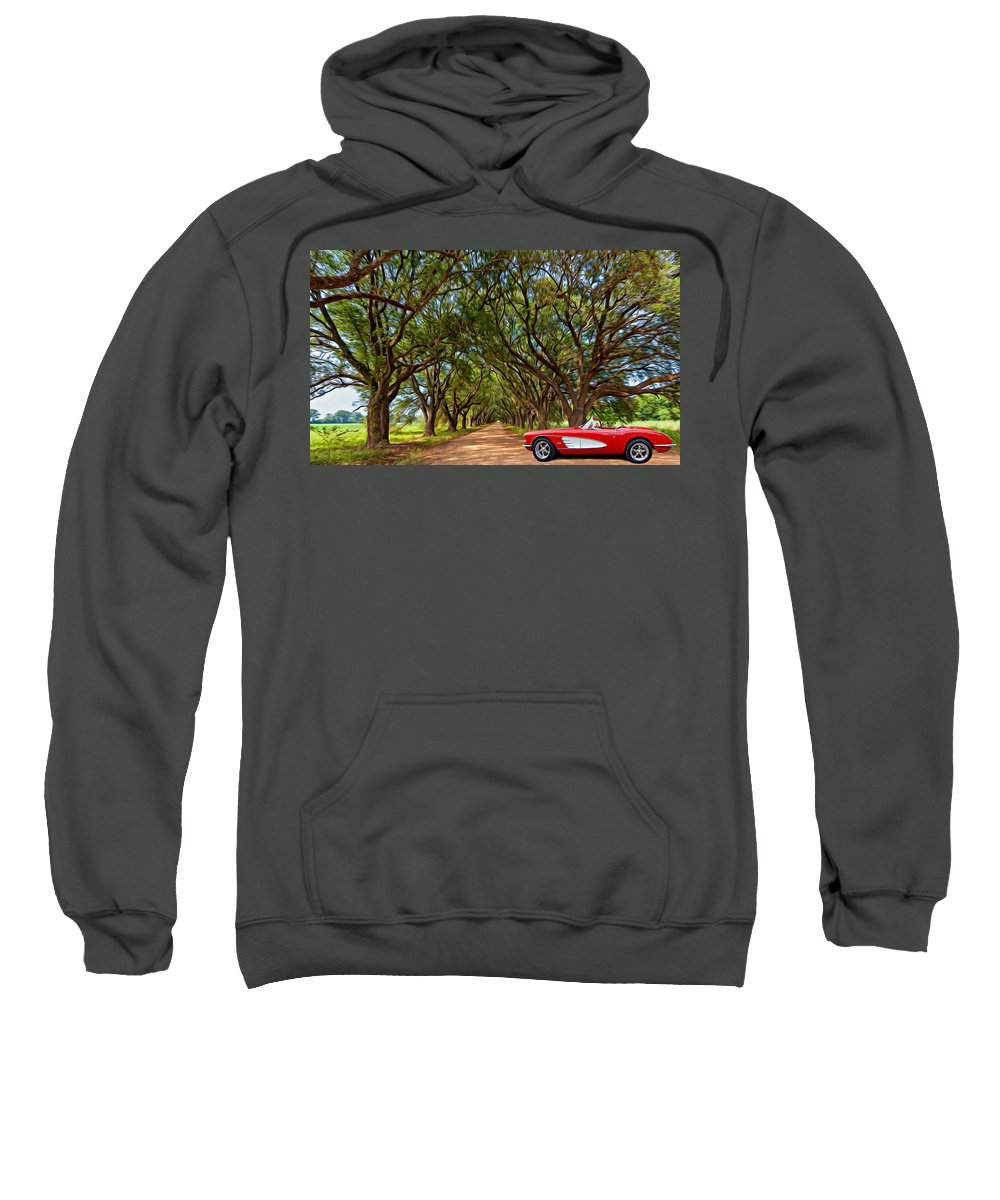 American Sweatshirt featuring the photograph American Dream Drive 2 by Steve Harrington