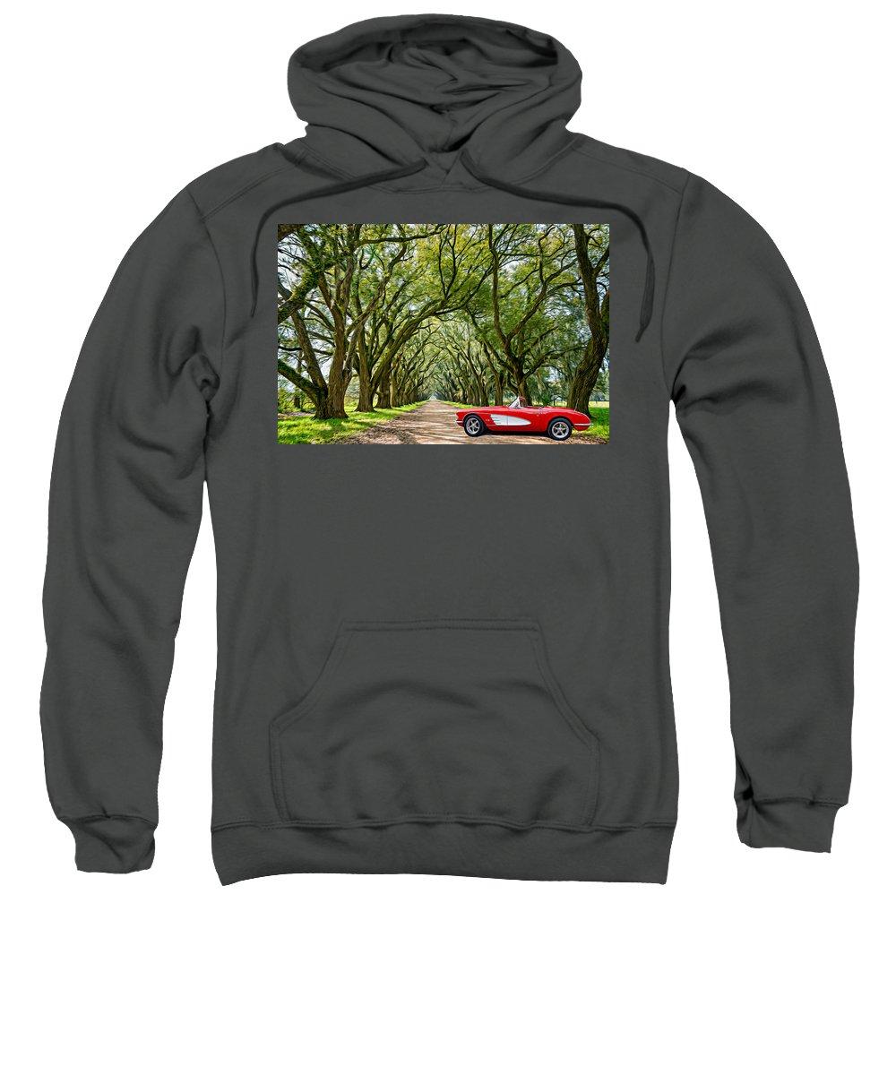 American Sweatshirt featuring the photograph American Dream Drive by Steve Harrington