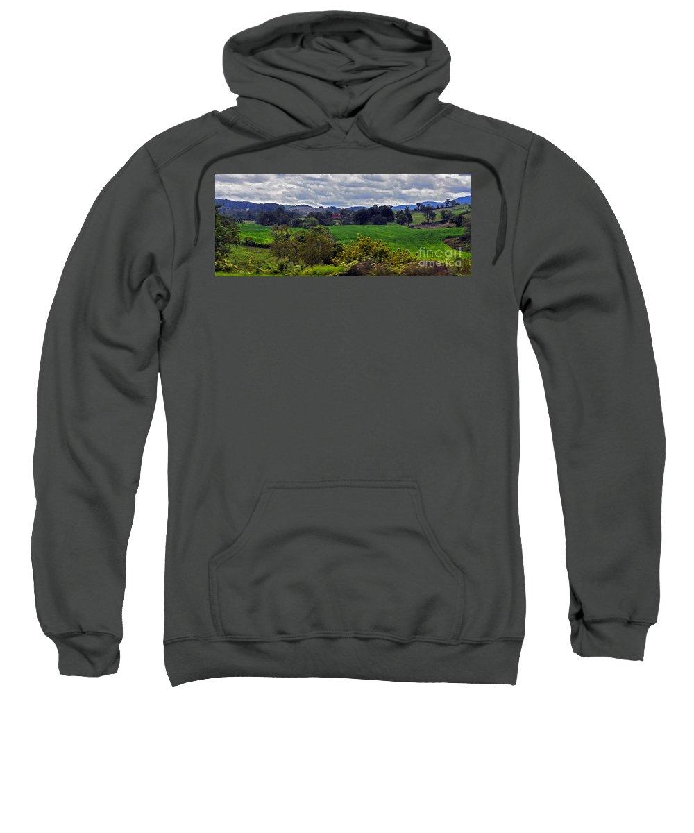 Farmland Sweatshirt featuring the photograph American Farmland 2 by Lydia Holly