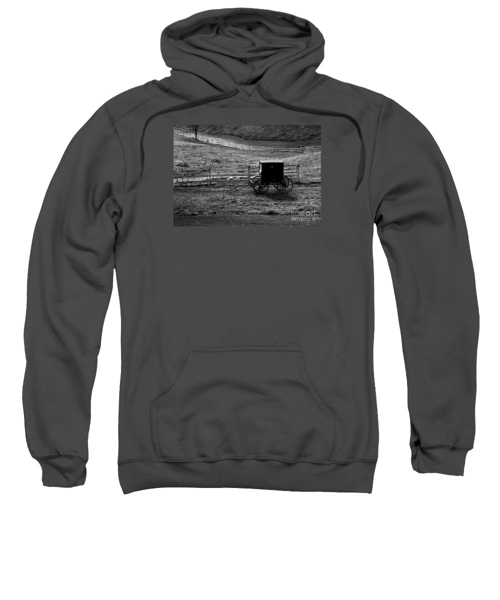 Amish Sweatshirt featuring the photograph Amish Buggy by Kathleen Struckle