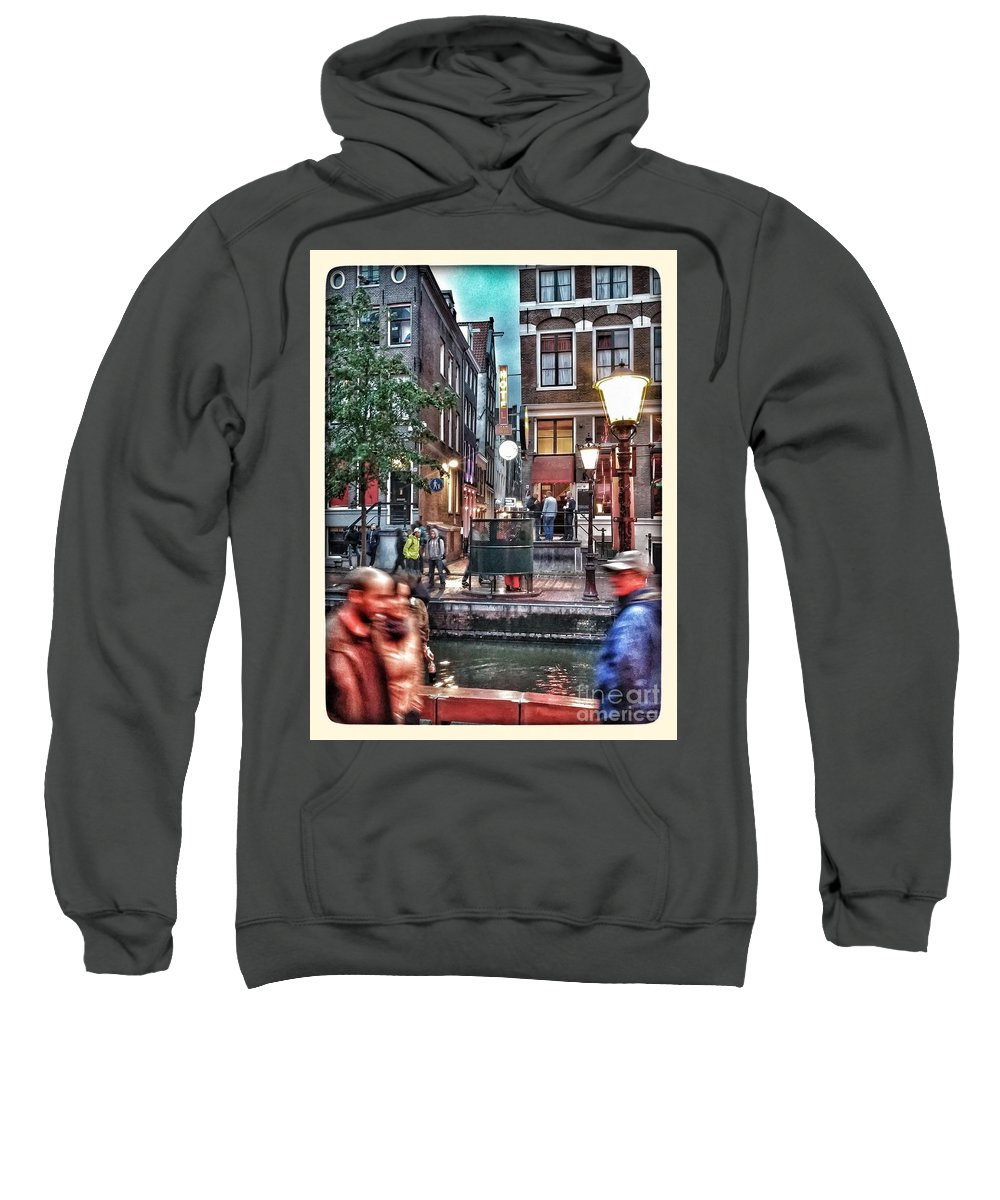 Amsterdam Sweatshirt featuring the photograph Amsterdam Saturday Night by Jill Smith